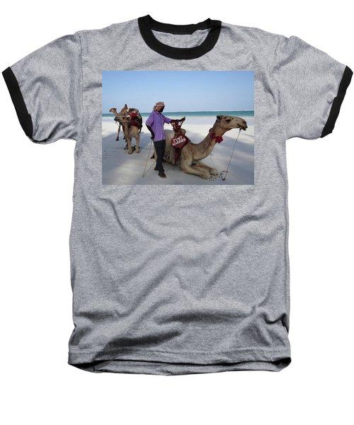 Just Married Camels Kenya Beach 2 Baseball T-Shirt by Exploramum Exploramum