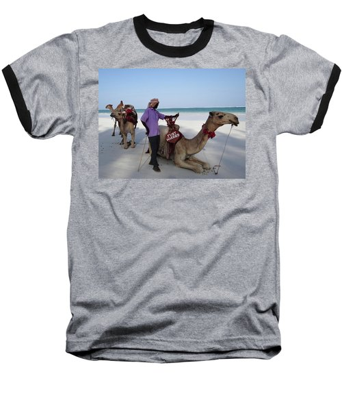 Just Married Camels Kenya Beach 2 Baseball T-Shirt
