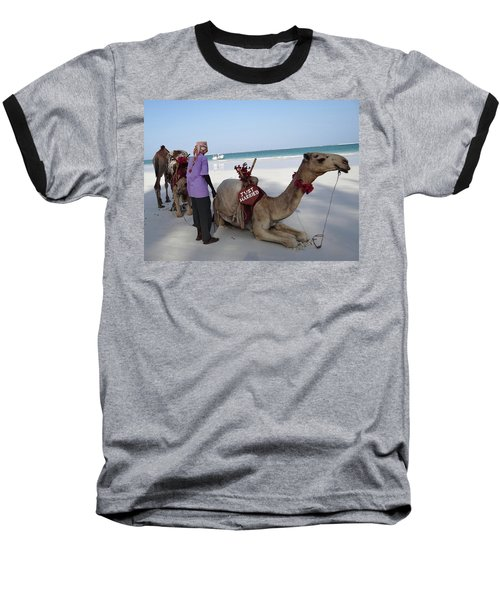 Just Married Camels Kenya Beach Baseball T-Shirt