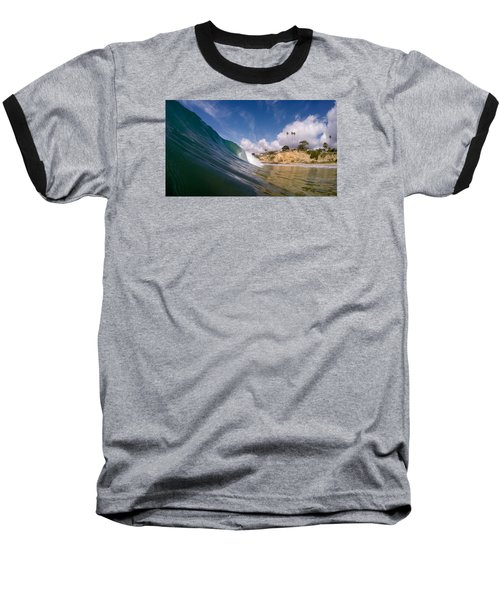 Baseball T-Shirt featuring the photograph Just Me And The Waves by Sean Foster