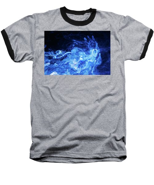 Just Passing By - Blue Art Photography Baseball T-Shirt by Modern Art Prints