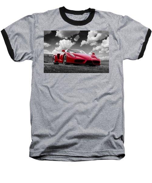 Just Red 1 2002 Enzo Ferrari Baseball T-Shirt