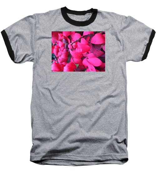 Just Red/pink Baseball T-Shirt