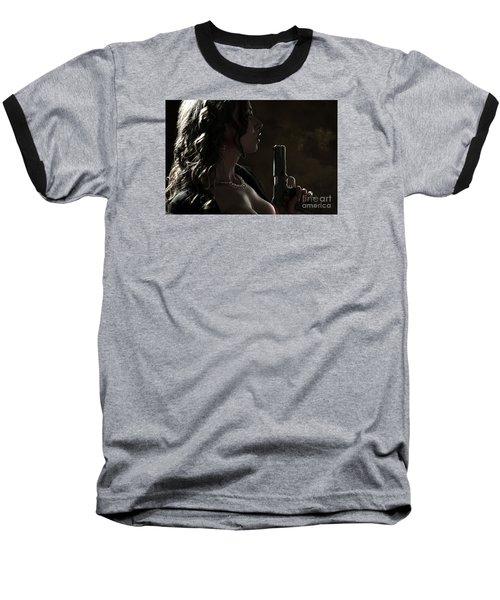 Just Shot That 45 Baseball T-Shirt by David Bazabal Studios