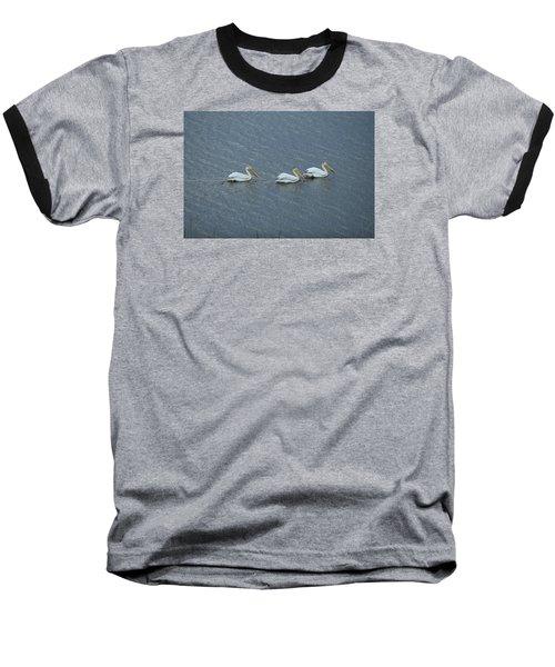 Triple Pelicans Lake John Swa Co Baseball T-Shirt