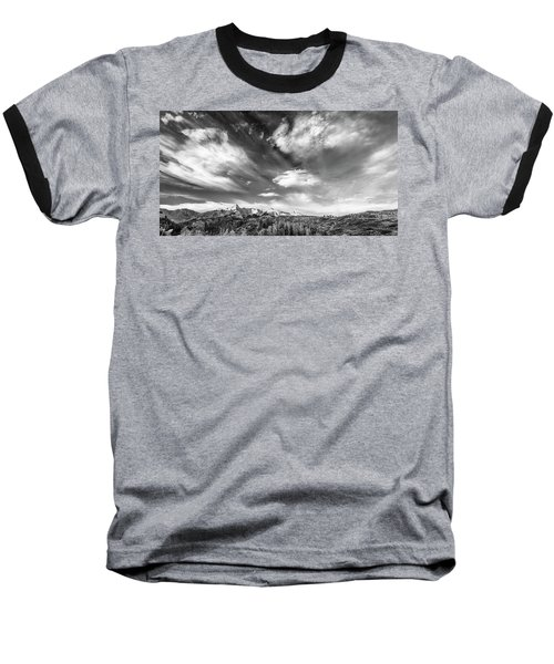 Baseball T-Shirt featuring the photograph Just The Clouds by Jon Glaser