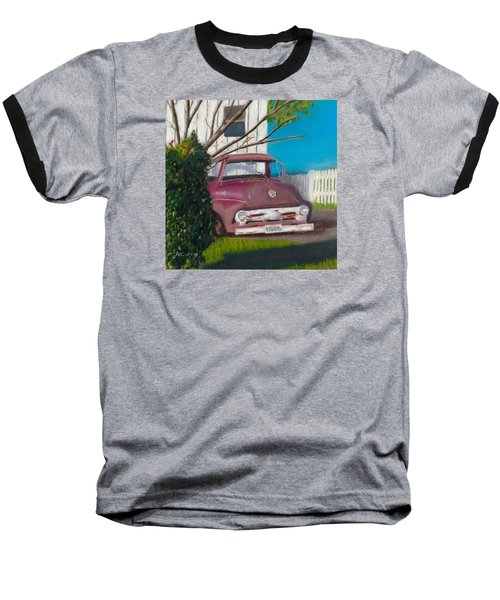 Just Up The Road Baseball T-Shirt by Arlene Crafton