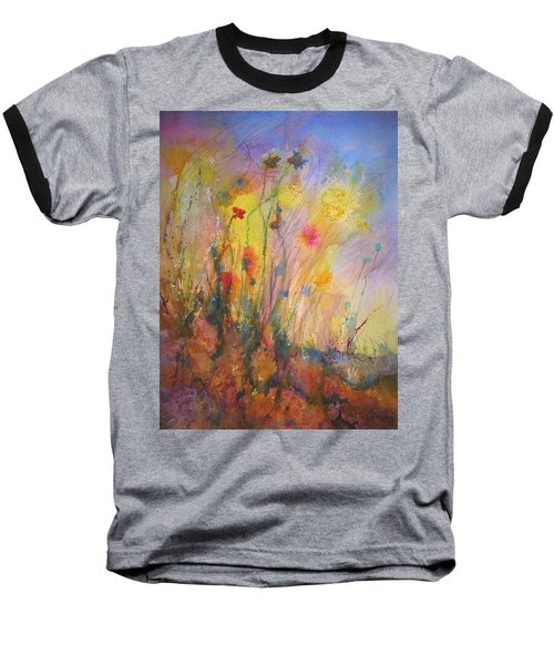 Just Weeds Baseball T-Shirt by Mary Schiros