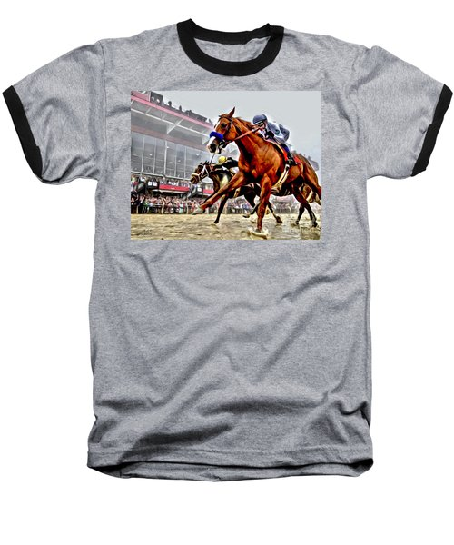 Justify Wins Preakness Baseball T-Shirt