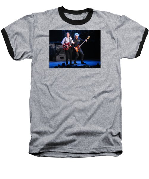 Baseball T-Shirt featuring the photograph Justin And John In Concert 2 by Melinda Saminski