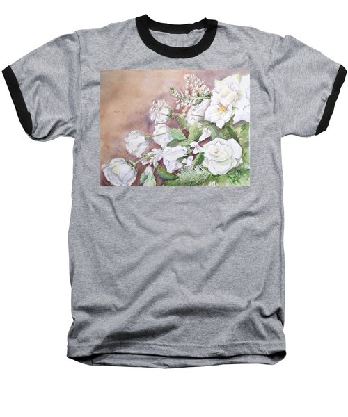 Justin's Flowers Baseball T-Shirt