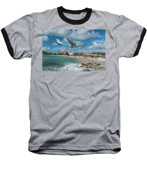 K L M A330 Landing At Sxm Baseball T-Shirt