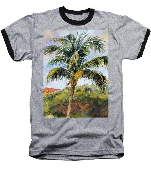 Kaanapali Palm Baseball T-Shirt by William Reed