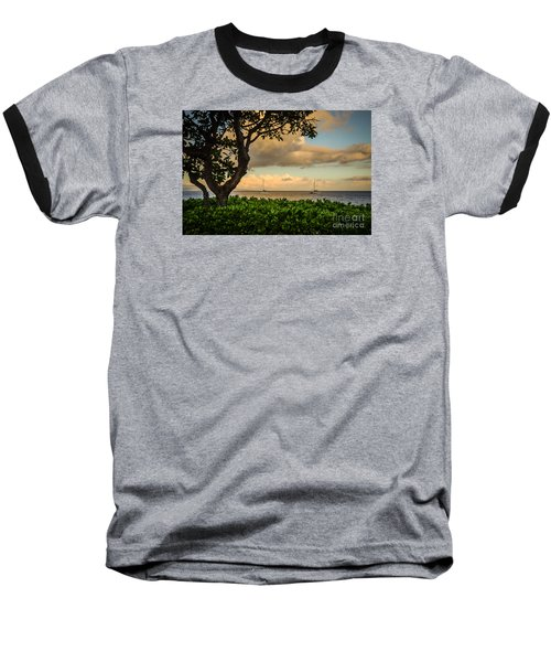 Ka'anapali Plumeria Tree Baseball T-Shirt