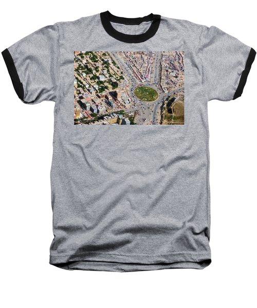 Kabul Traffic Circle Aerial Photo Baseball T-Shirt