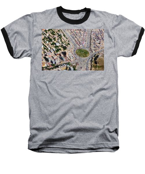 Kabul Traffic Circle Aerial Photo Baseball T-Shirt
