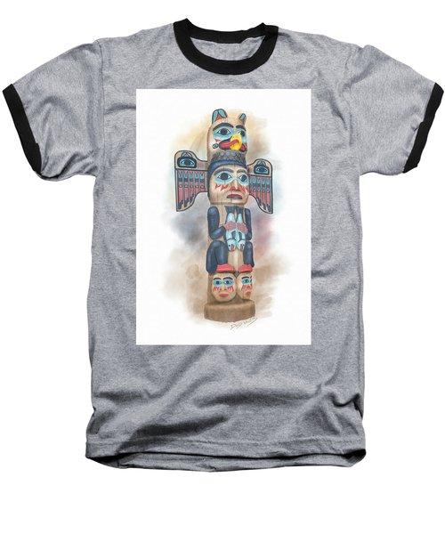 Kadjuk Bird Pole Baseball T-Shirt