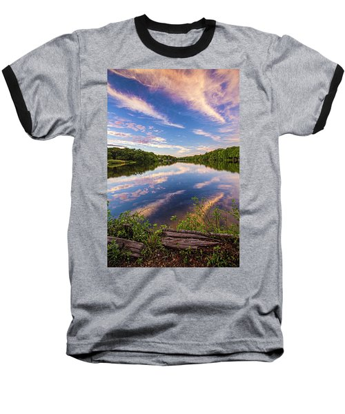 Kahler's Pond Clouds Baseball T-Shirt