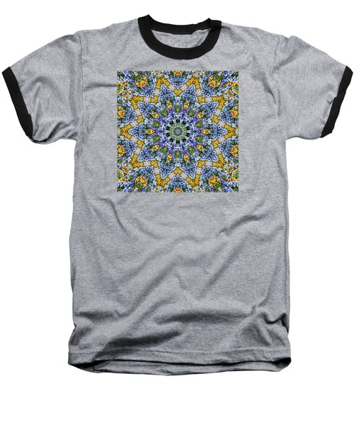 Kaleidoscope - Blue And Yellow Baseball T-Shirt
