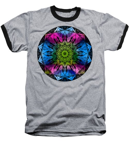 Kaleidoscope - Colorful Baseball T-Shirt