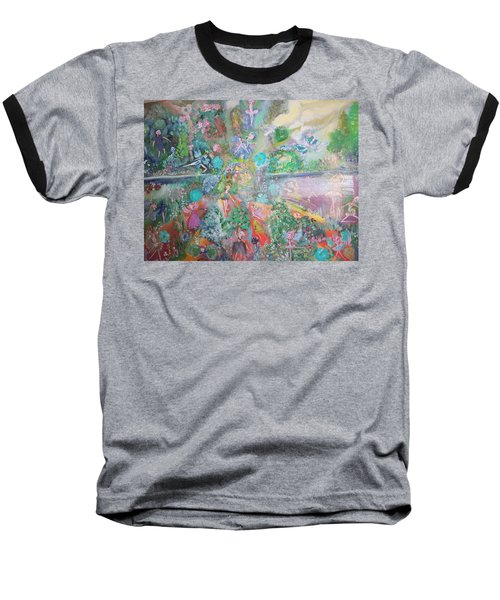 Kaleidoscope Fairies Too Baseball T-Shirt by Judith Desrosiers