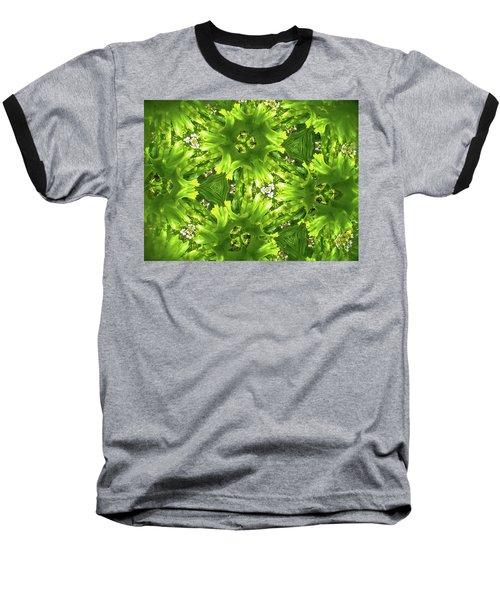 Kaleidoscope Flower Baseball T-Shirt