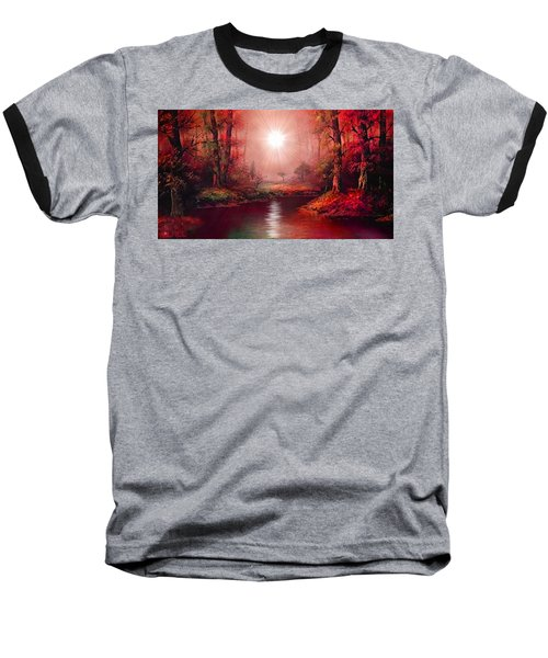 Baseball T-Shirt featuring the painting Kaleidoscope Forest by Michael Rucker