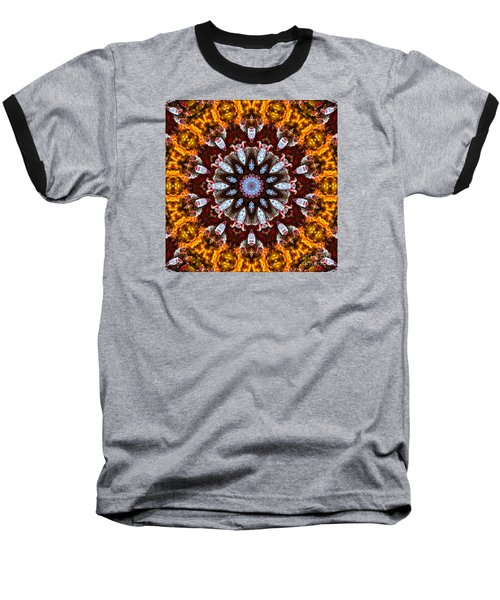 Kaleidoscope In Gold Baseball T-Shirt by Marilyn Carlyle Greiner