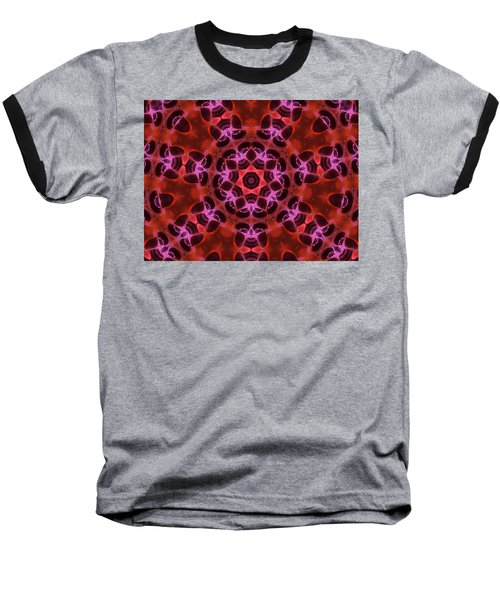 Kaleidoscope With Seven Petals Baseball T-Shirt