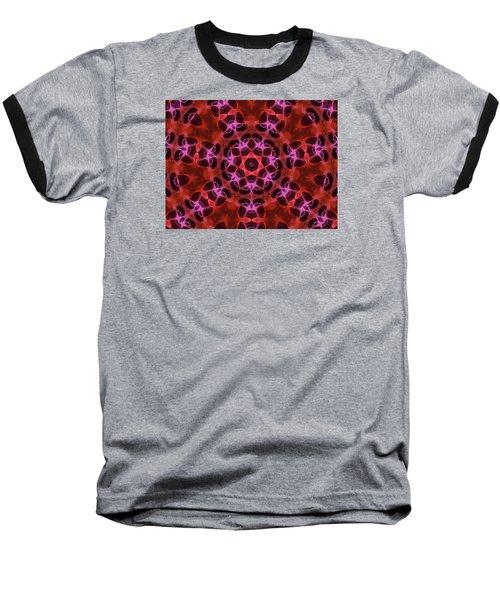 Kaleidoscope With Seven Petals Baseball T-Shirt