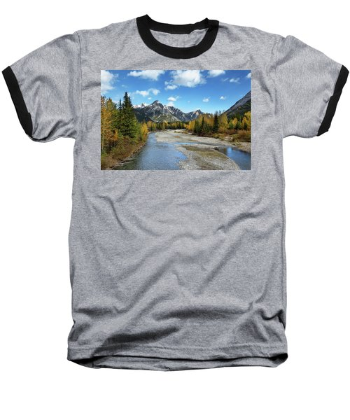 Kananaskis River In Fall Baseball T-Shirt