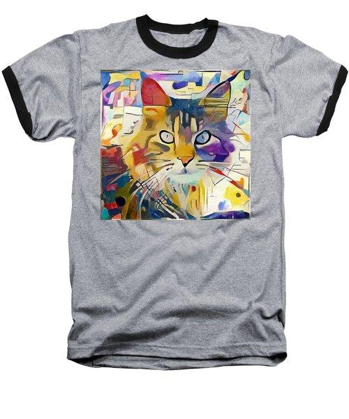 Kandinsky Cat Baseball T-Shirt
