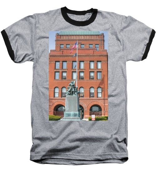 Kane County Courthouse Baseball T-Shirt by David Bearden