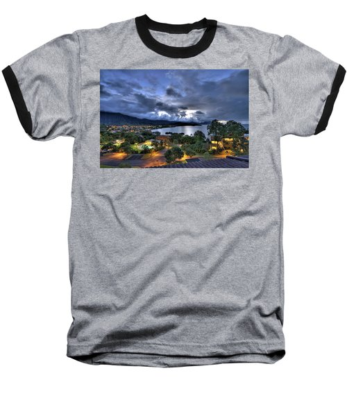 Kaneohe Bay Night Hdr Baseball T-Shirt
