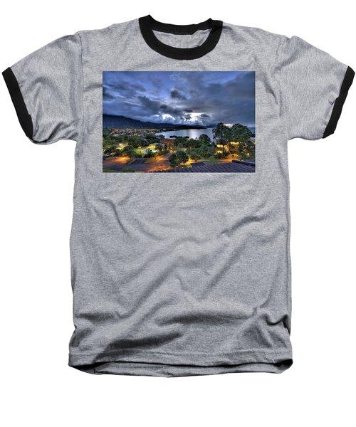 Kaneohe Bay Night Hdr Baseball T-Shirt
