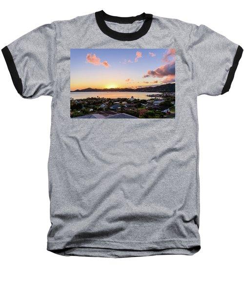Kaneohe Bay Sunrise 1 Baseball T-Shirt