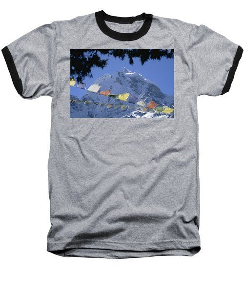 Baseball T-Shirt featuring the photograph Kang Tega Nepal by Rudi Prott