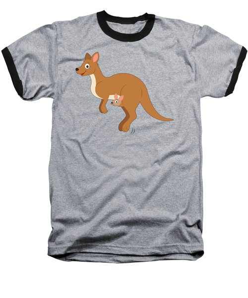 Mamma Kangaroo And Joey Baseball T-Shirt by A