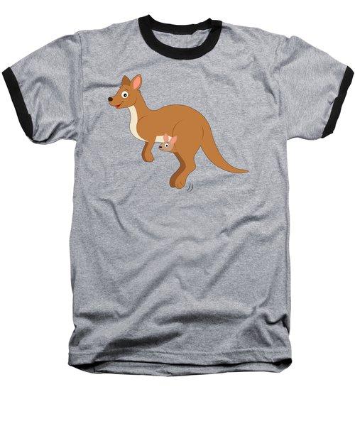 Mamma Kangaroo And Joey Baseball T-Shirt