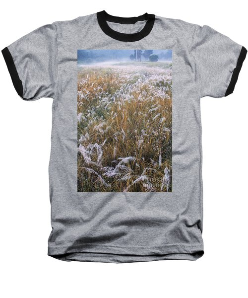Kans Grass In Mist Baseball T-Shirt