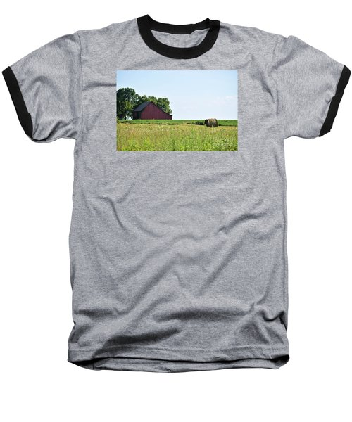 Baseball T-Shirt featuring the photograph Kansas Barn by Mark McReynolds