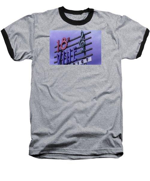 Kansas City 18th And Vine Sign Baseball T-Shirt