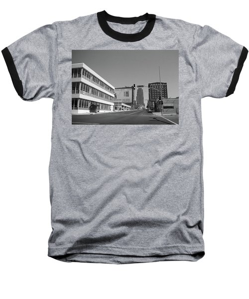 Baseball T-Shirt featuring the photograph Kansas City - 18th Street Bw by Frank Romeo