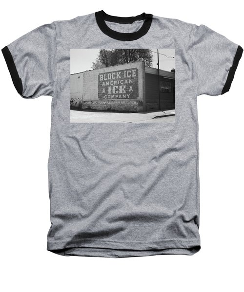 Baseball T-Shirt featuring the photograph Kansas City Ghost Mural Bw by Frank Romeo