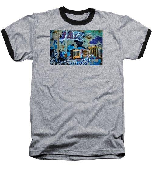 Kansas City Jazz Mural Baseball T-Shirt