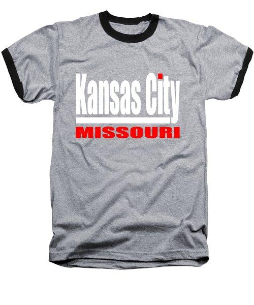Kansas City Missouri - Tshirt Design Baseball T-Shirt by Art America Gallery Peter Potter