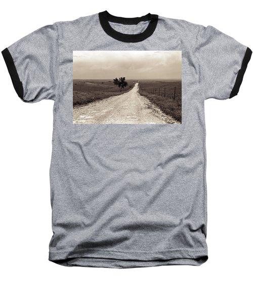 Kansas Country Road Baseball T-Shirt by Thomas Bomstad
