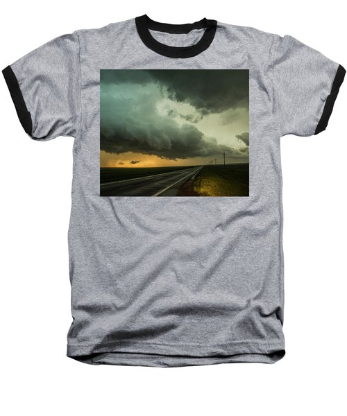Kansas Storm Chase Bust Day 004 Baseball T-Shirt