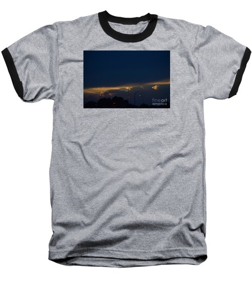 Baseball T-Shirt featuring the photograph Kansas Sunset Angel by Mark McReynolds