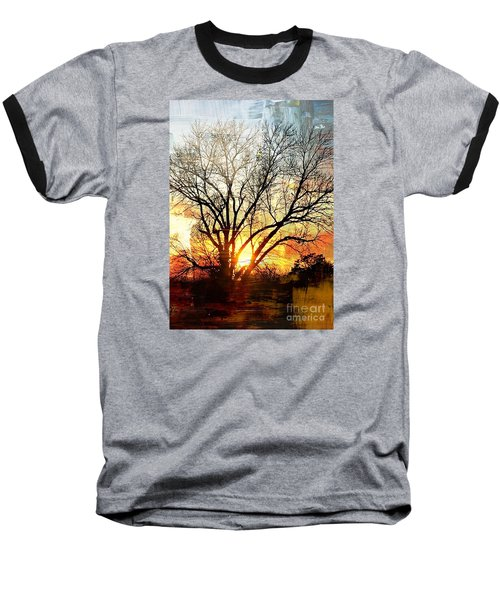 Kansas Sunset Baseball T-Shirt